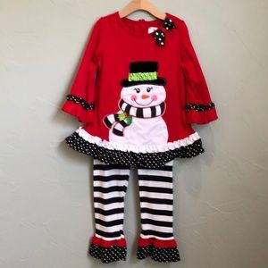 Rare Editions girl's Christmas outfit